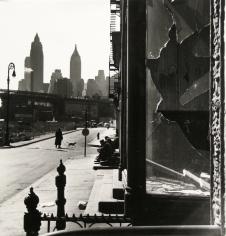 Rebecca Lepkoff - Broken Window, South Street, NYC, 1947 - Howard Greenberg Gallery
