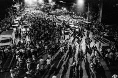 Ken Schles - Crowds Dispersing After Fireworks Display, 1983 - Howard Greenberg Gallery