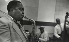 Esther Bubley - Charlie Parker, Norman Granz Jam Session, 1952 - Howard Greenberg Gallery