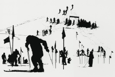 Marvin Newman - Slalom Course, Stowe, Vermont, 1952 - Howard Greenberg Gallery