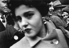 William Klein - Big Face, Big Buttons, New York, 1955 - Howard Greenberg Gallery