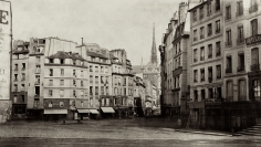 Charles Marville - Place Maubert, c.1865 - Howard Greenberg Gallery