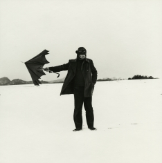 Shōji Ueda - Self Portrait with Gorilla Mask, 1975 - Howard Greenberg Gallery
