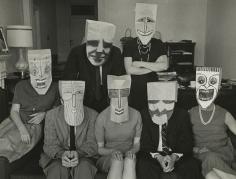 "Inge Morath - ""Mask Portrait"" from Series with Saul Steinberg, 1962 - Howard Greenberg Gallery"