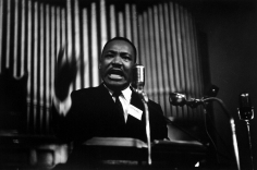 James Karales - Martin Luther King, Jr. speaking at 16 St. Baptist Church, 1962 - Howard Greenberg Gallery