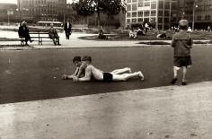 Ben Shahn - Boys Lying in Street, c.1932 - Howard Greenberg Gallery