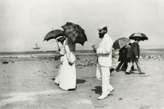 Jacques-Henri Lartigue - Cousin Caro and Mr. Plantevigne, Villerville, 1906 - Howard Greenberg Gallery