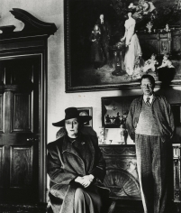 Bill Brandt - Edith and Osbert Sitwell beneath the Family Group by Sargent, Renishaw Hall, Yorkshire, 1945 - Howard Greenberg Gallery