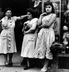 Sy Kattelson - Three Women on Street, 1948 - Howard Greenberg Gallery
