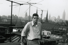 Allen Ginsberg - Portrait snapshot by W.S. Burroughs, my apartment roof East 7th Street, 1953 - Howard Greenberg Gallery