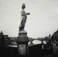 Eric Lindbloom - Figure of Spring, South Trinita Bridge, Florence, 1981 - Howard Greenberg Gallery