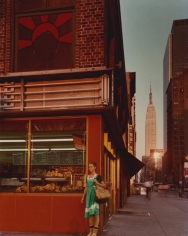 Joel Meyerowitz - Empire State Series: Young Dancer, 34th Street and 9th Avenue, New York City, 1978  - Howard Greenberg Gallery
