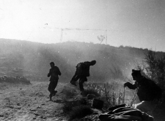 Robert Capa - Battle of Rio Segre, near Fraga, 7-Nov-38 - Howard Greenberg Gallery