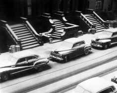 Ruth Orkin - White Stoops, NYC, 1952 - Howard Greenberg Gallery