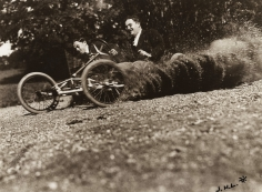 Jacques-Henri Lartigue - Jean Haguet and Louis Ferrand during the bobsled race at the Chateau de Rouzat, 1-Sep, 1911 - Howard Greenberg Gallery