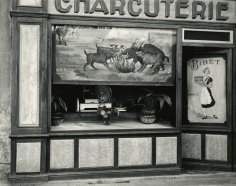 Paul Strand - Charcuterie, Montmerle-sur-Saone, the Ain Region, France, 1950 - Howard Greenberg Gallery