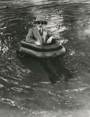 Jacques-Henri Lartigue - Zissou in his Tire-Boat, 1911 - Howard Greenberg Gallery