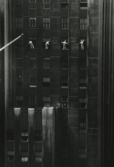 Inge Morath - Window Washers, 48th Street, New York, 1958 - Howard Greenberg Gallery