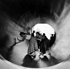 Arthur Leipzig - Turning Barrel, Coney Island, 1952 - Howard Greenberg Gallery