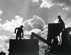 Esther Bubley - Rice being transferred from the combine to a truck in which it will be hauled to the drier - Howard Stagg farm near Beaumont, TX, 1945- Howard Greenberg Gallery