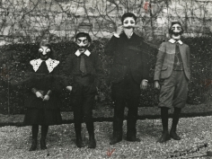 Jacques-Henri Lartigue - Mardi Gras with Bouboutte, Louis, Robert, and Zissou, Paris, 1903 - Howard Greenberg Gallery
