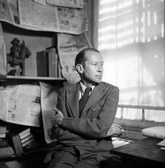 George Platt Lynes - E.E. Cummings, 1947 - Howard Greenberg Gallery