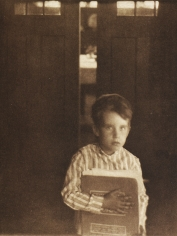 Clarence White - Boy with Camera Work, 1905 - Howard Greenberg Gallery