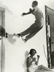 Martin Munkacsi - Having Fun at Breakfast, Berlin, c.1933 - Howard Greenberg Gallery