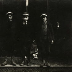 Lewis Hine - Messenger boys. They work until 11 p.m. New Haven, Connecticut  March, 1909 - Howard Greenberg Gallery