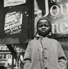 Gordon Parks - Harlem Newsboy, Harlem, New York, 1943 - Howard Greenberg Gallery