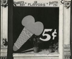 Peter Sekaer - Ice Cream Cone Sign, Bowling Green, Virginia, c.1935 - Howard Greenberg Gallery