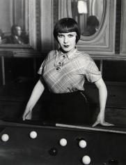 Brassaï - Girl Playing Snooker in Montmartre, 1933 - Howard Greenberg Gallery