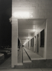 Mark Citret - Long Outdoor Corridor, Shady Court Motel, Winnemucca, 2009- Howard Greenberg Gallery
