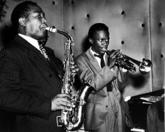 William Gottlieb - Charlie Parker, Miles Davis, 1948 - Howard Greenberg Gallery