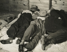 Marion Post-Wolcott - Tobacco Workers Taking a Nap in Tobacco Warehouse, Durham, NC, 1939 - Howard Greenberg Gallery