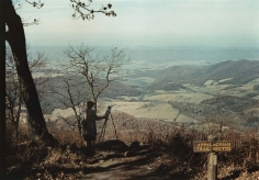 Jack Delano - Man painting from Skyline Drive, Shenandoah Valley, VA, c.1940 - Howard Greenberg Gallery