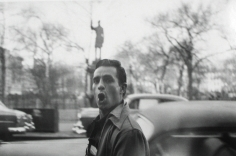 Allen Ginsberg - Jack Kerouac passing statue of Samuel Cox, Tompkins Square Park, New York City, 1953 - Howard Greenberg Gallery