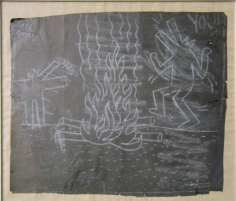 Untitled (Dancing Dogs Around the Fire)