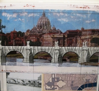 Pont Sant'Angelo, Wrapped (Project for Rome)