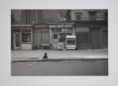 Child Playing at Curb, Eighth Avenue