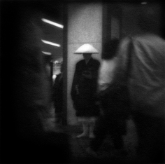 James Whitlow Delano, Mangaland, Buddhist monk in Shinjuko Station, Tokyo, Japan, 1993, Sous Les Etoiles Gallery