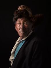 David Zimmerman, One Voice, Portrait of Tseten Dorjee in fur hat, 2012, Sous Les Etoiles Gallery