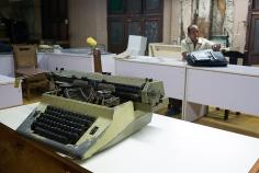 Magdalena Solé, Cuba - Hasta Siempre (Cuba Forever), Typewriter at Department of Agriculture, Santiago de Cuba, 2013, Sous Les Etoiles Gallery
