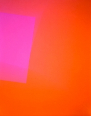 Richard Caldicott, Chance/Fall, 2010, Sous Les Etoiles Gallery, orange, pink, abstract