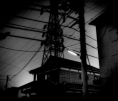 James Whitlow Delano, Mangaland, Traditional home beneath high power voltage lines, Seigo, Japan, 2004, Sous Les Etoiles Gallery