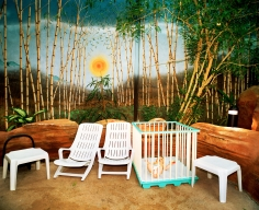 Reiner Riedler, Fake Holidays, Baby in crib, Centerparcs, Bispingen, Germany, 2007, Sous Les Etoiles Gallery