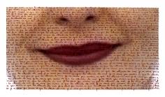 Carolle Bénitah, What cannot be said, Ce qu'on ne peut pas dire, lips, sentences, handwritten, 2013, Sous Les Etoiles Gallery, je ne veux pas savoir ce que tu attends de moi, I do not want to know what you want from me