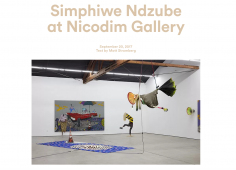 Simphiwe Ndzube at Nicodim Gallery