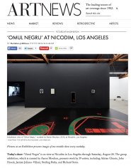 """Omul Negru"" is featured in ARTnews"