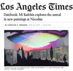Mi Kafchin explores the unreal in new paintings at Nicodim